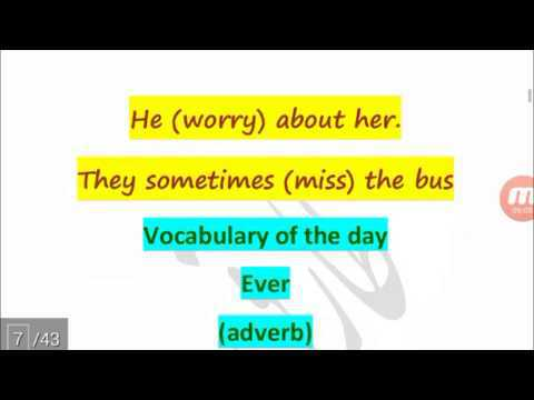 Correct forms of verbs – Basic English Grammar