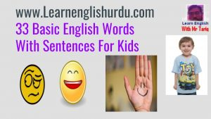 33 Basic English Words With Sentences For Kids