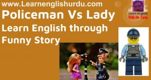 Policeman Vs Lady – Learn English through Funny Story
