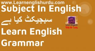 Subject In English Grammar