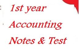 Accounting notes & Test