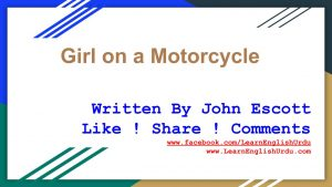 The-Girl-on-a-motorcycle-300x169 Short Story Girl on a Motorcycle By John Escott