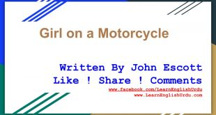 Short Story Girl on a Motorcycle By John Escott