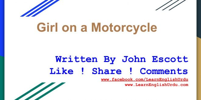 Girl on a motorcycle by john