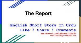 The Report English Short Story For Kids