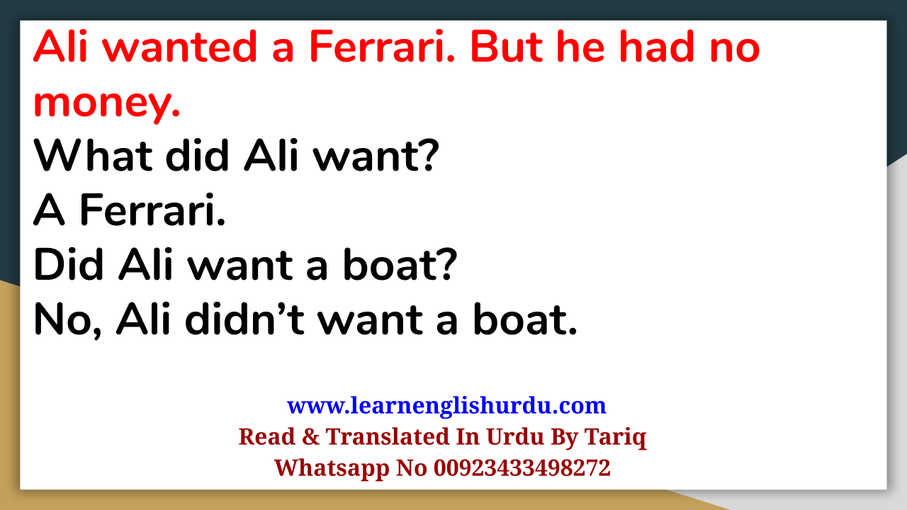 Mini Story With English Speaking Practice With Tariq