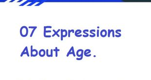 07 Expressions About Age