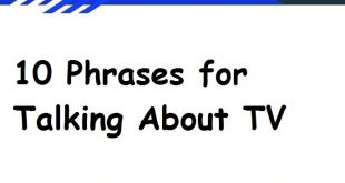 10 Phrases for Talking About TV