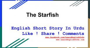 Moral Story The Starfish In English